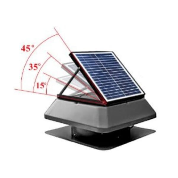 solar powered roof vent fan