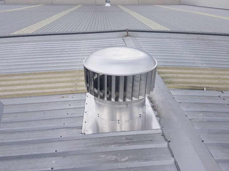 Mechanical Commercial Industrial Whirlybird Roof