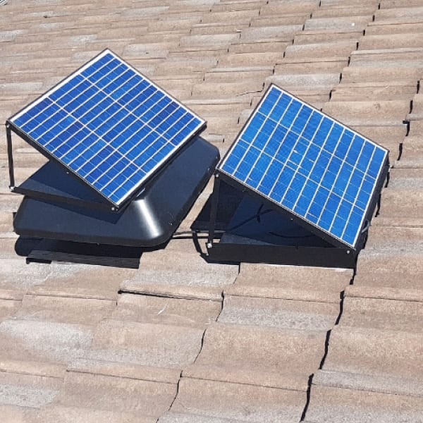Solar Roof Ventilation With Battery