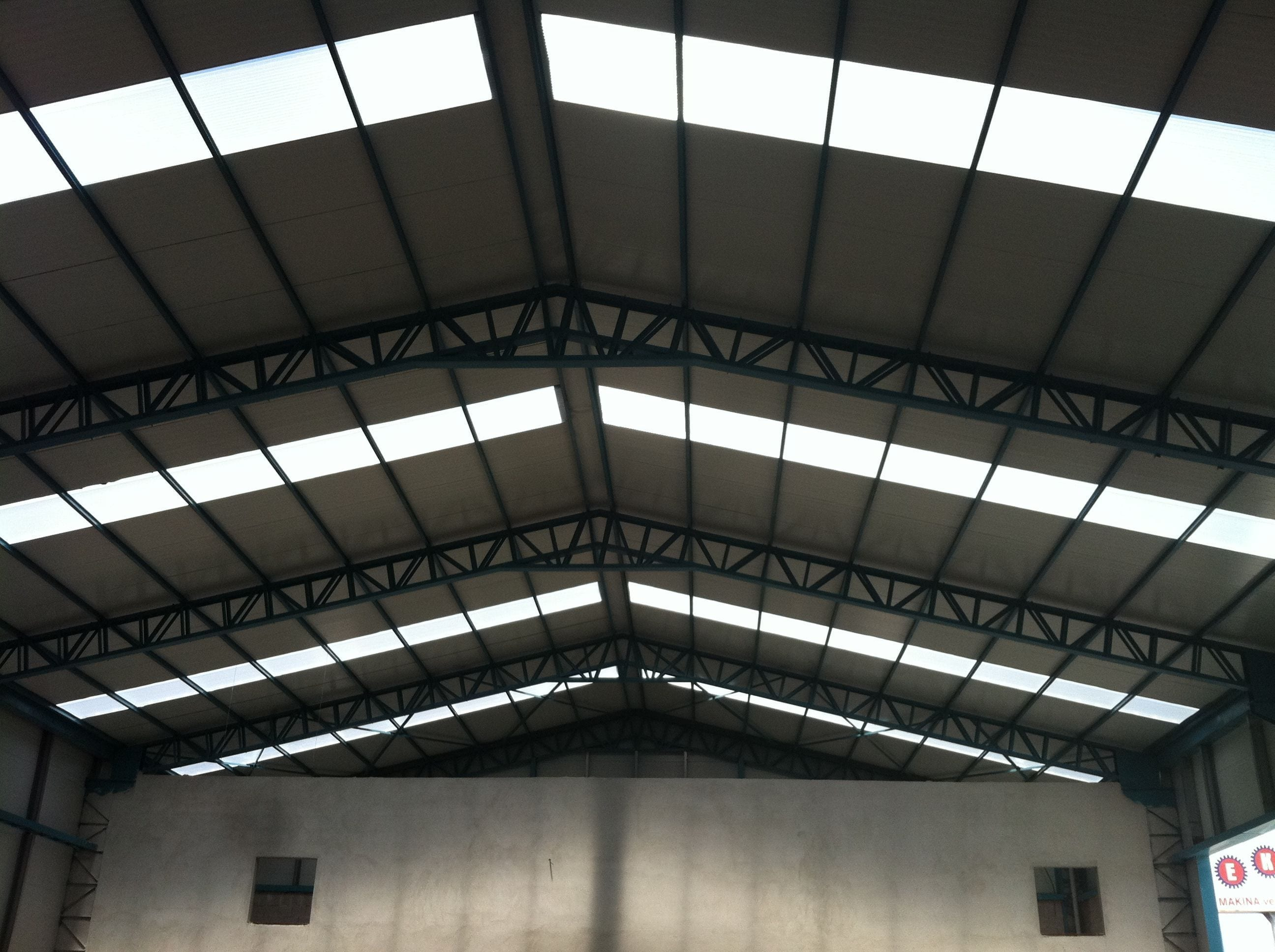 Fibreglass clear roof panels