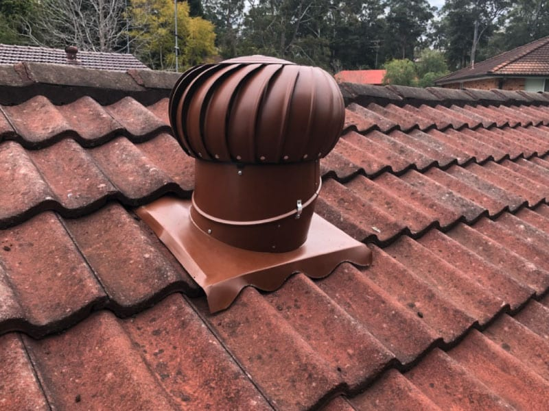 Whirlybird on Tiled Roof