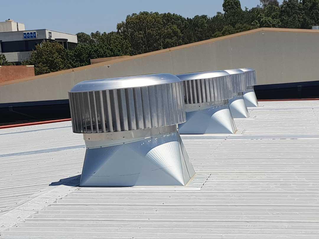 Three Commercial Whirlybird Installation