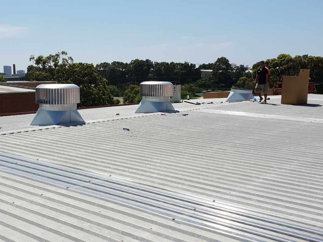 Commercial Whirlybird Installed on Roof