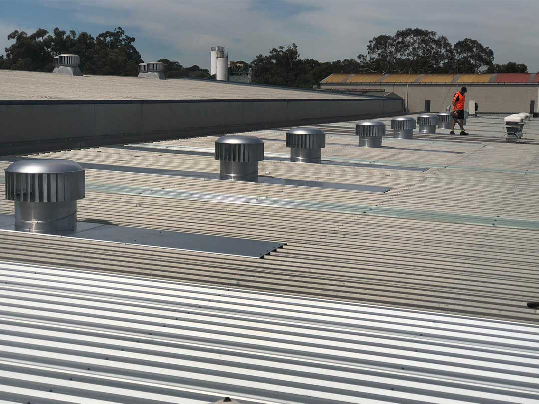 Commercial Roof Ventilation Installation Show