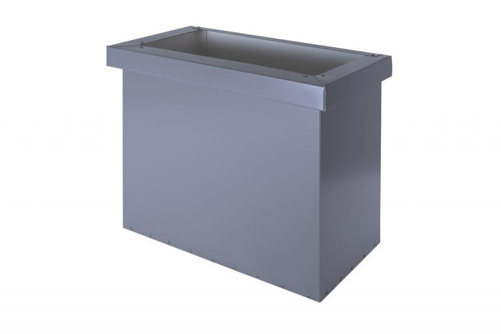 rectangular with collar metal rainwater head colorbond colour matt finish
