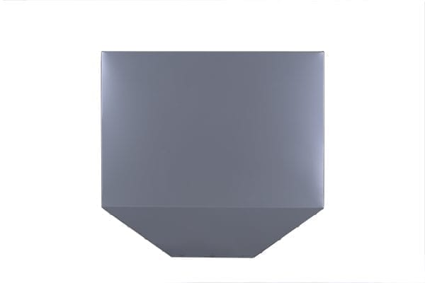 tapered metal rainwater head colorbond colour matt finish colour