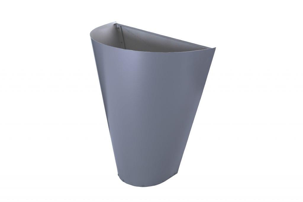 cone shape metal rainwater head colorbond finish matt colour