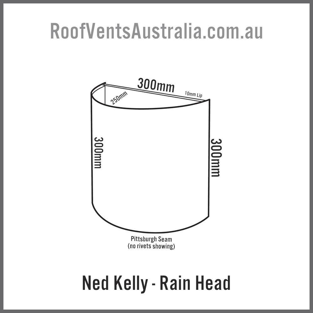 Ned Kelly Rainwater Head Colorbond Zincalume Melbourne Sydney Brisbane Darwin Perth Adelaide Hobart Australia 2