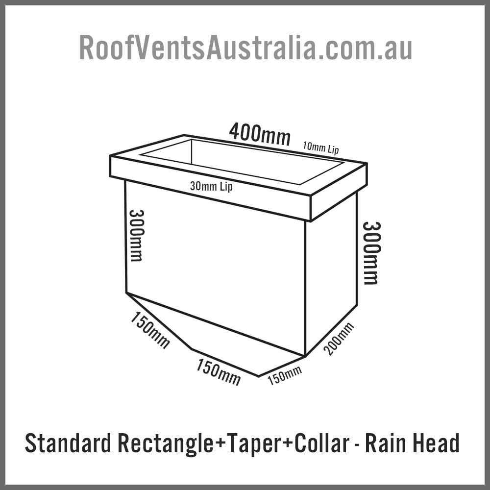 Rectangle Tapered with Collar Rainwater Head Colorbond Zincalume Melbourne Sydney Brisbane Darwin Perth Adelaide Hobart Australia 2