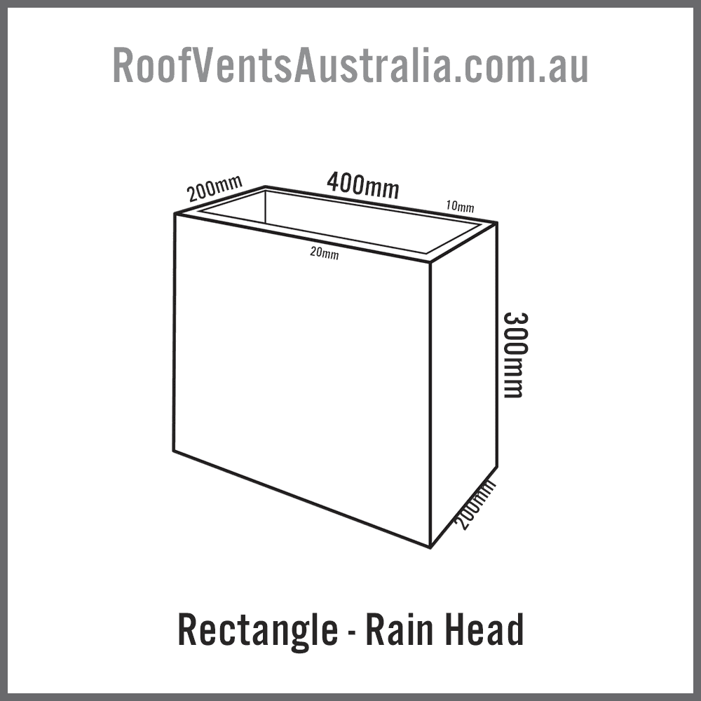 Rectangle Rainwater Head Colorbond Zincalume Melbourne Sydney Brisbane Darwin Perth Adelaide Hobart Australia 2