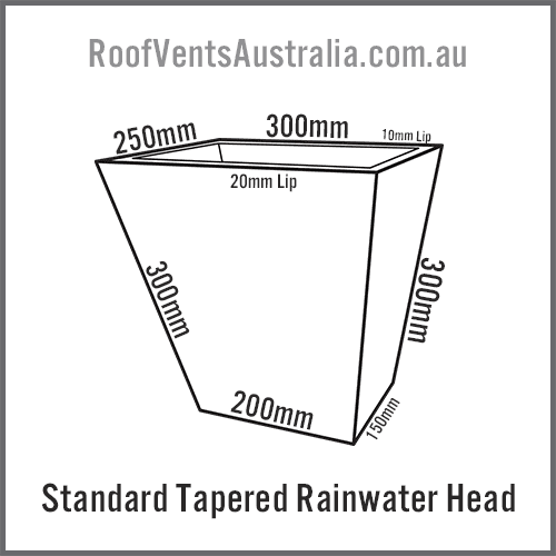 Standard Rainwater Head Colorbond Zincalume Melbourne Sydney Brisbane Darwin Perth Adelaide Hobart Australia 1