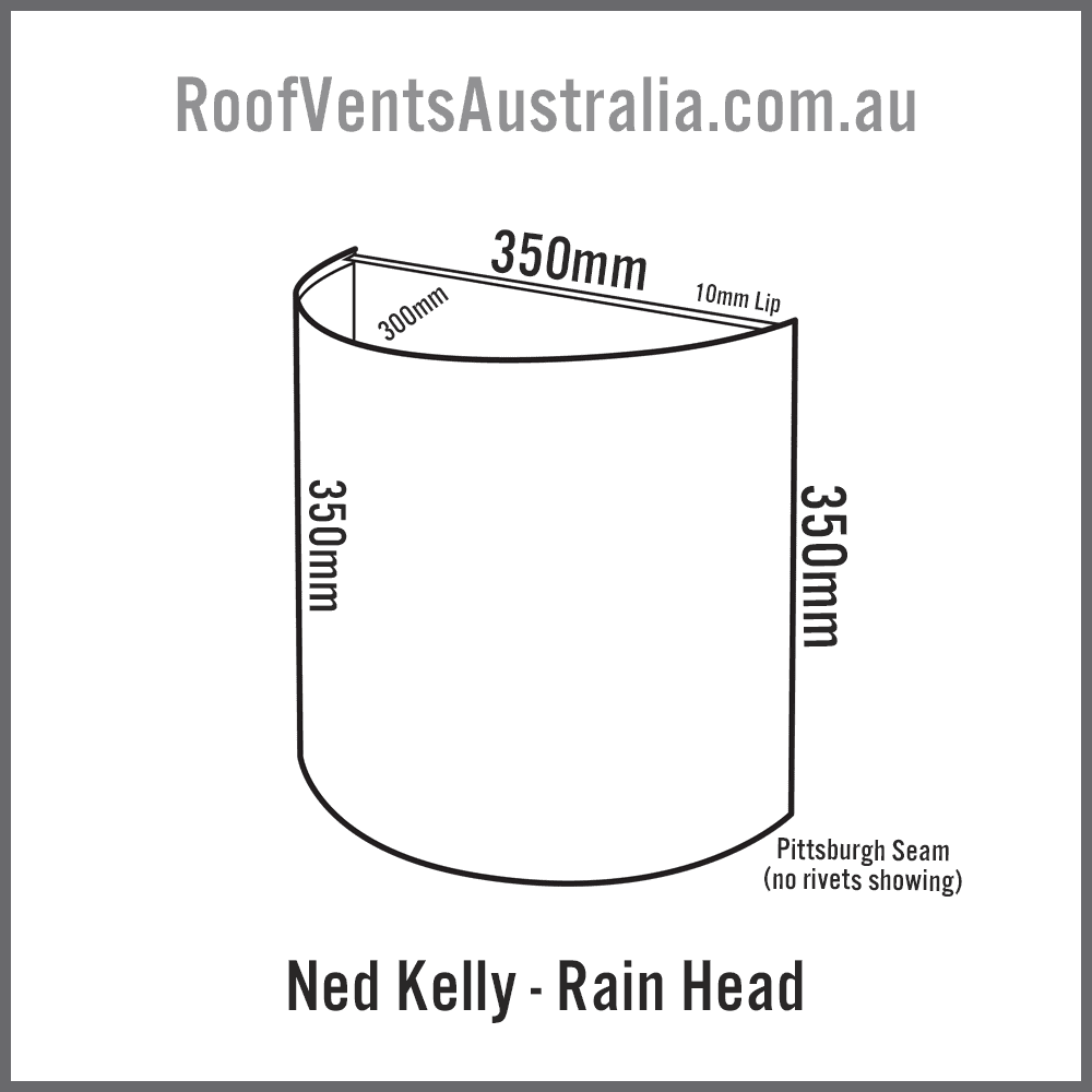 Ned Kelly Rainwater Head Colorbond Zincalume Melbourne Sydney Brisbane Darwin Perth Adelaide Hobart Australia 1