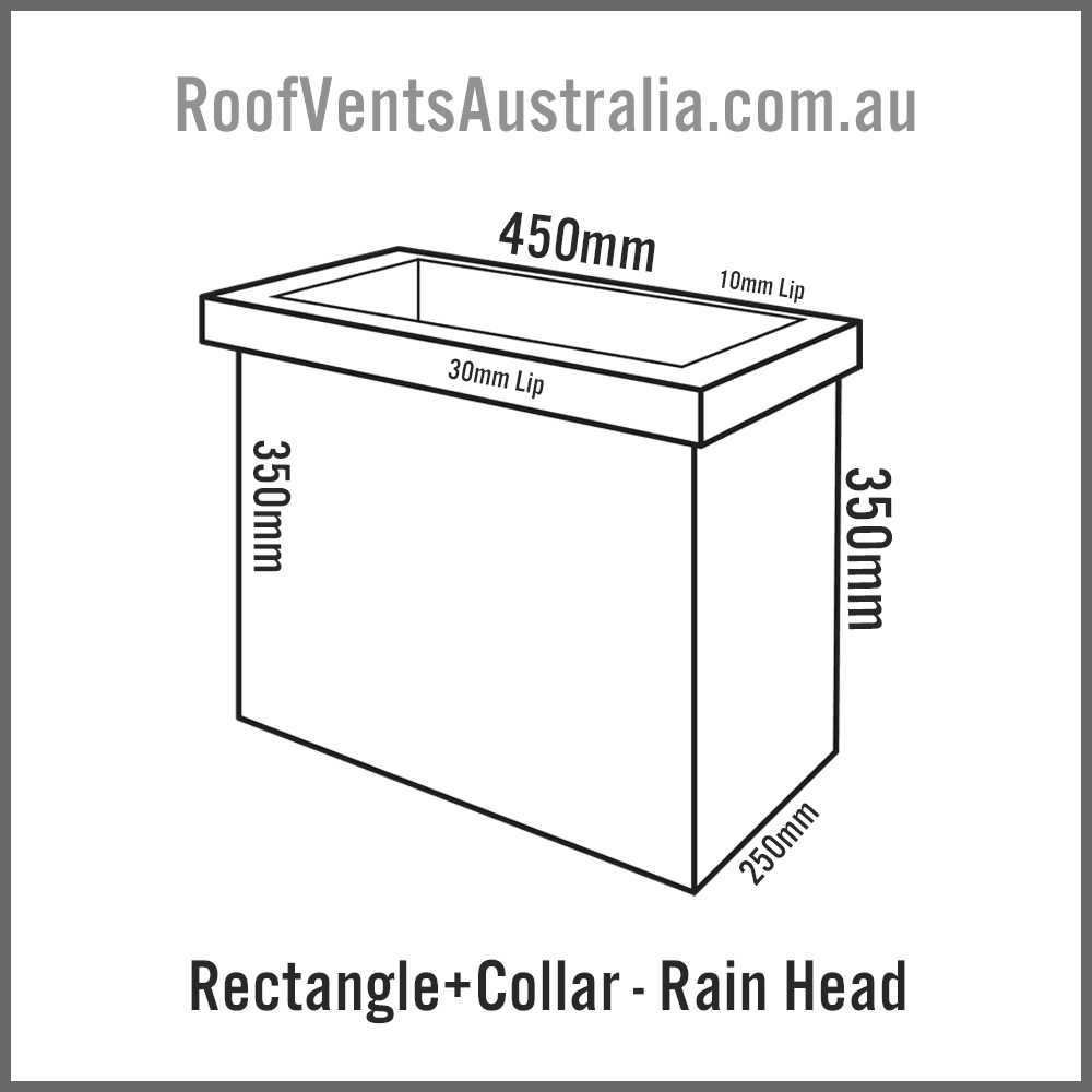 Rectangle with Collar Rainwater Head Colorbond Zincalume Melbourne Sydney Brisbane Darwin Perth Adelaide Hobart Australia 1