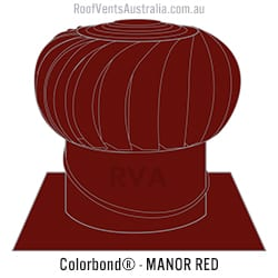 roof vent colorbond manor red