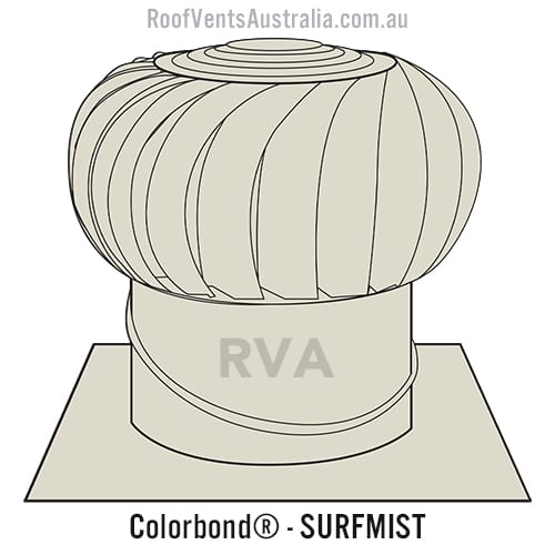 roof vent colorbond surfmist sydney