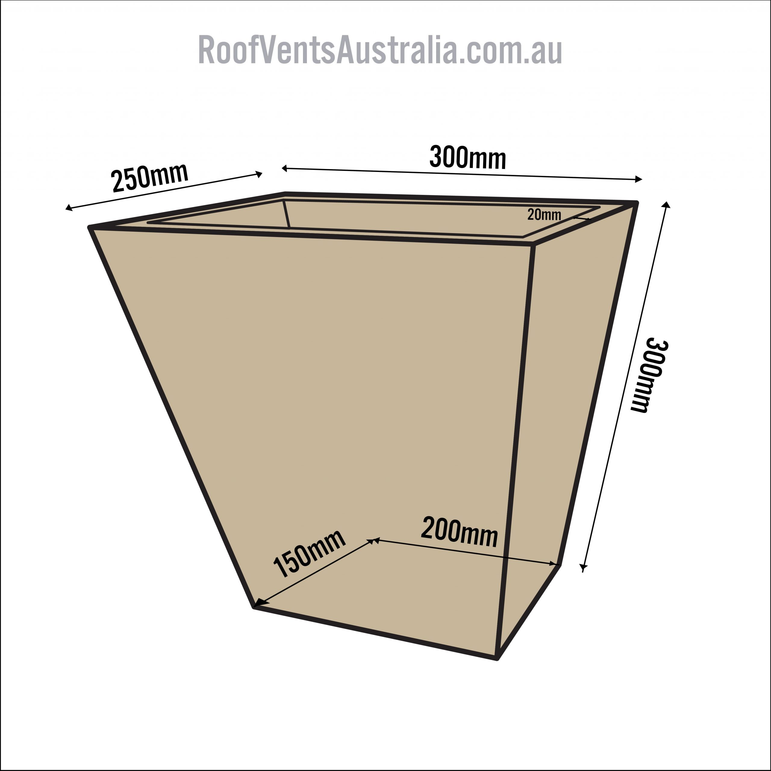 Standart Tapered Paperback Roof Ventilation Whirlybirds