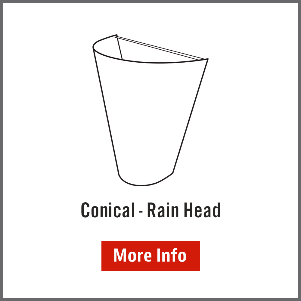 Conical rainwater head Australia