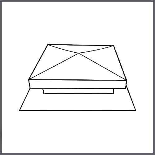 custom static roof vents