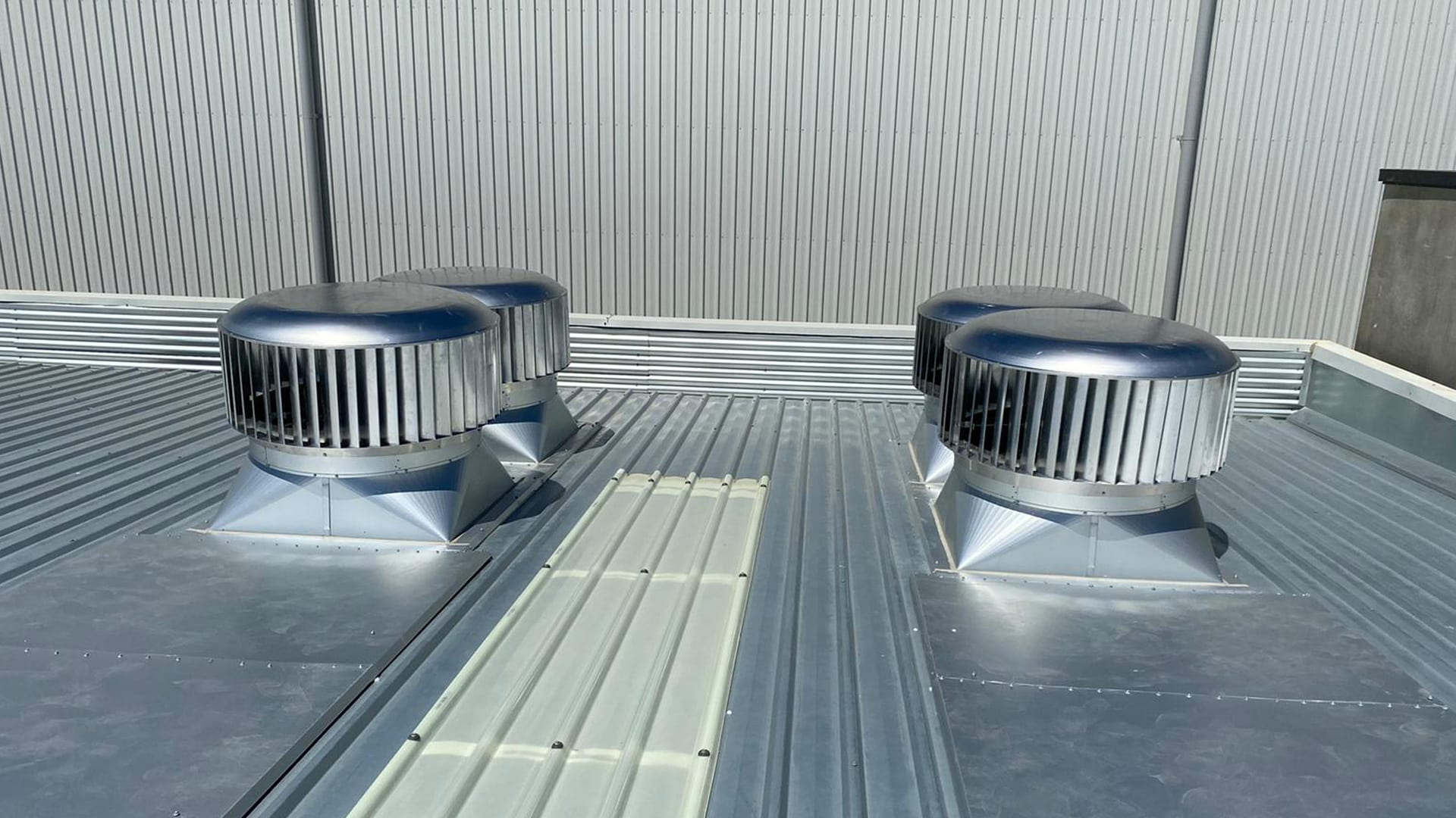 New Commercial Roof Vents Installed