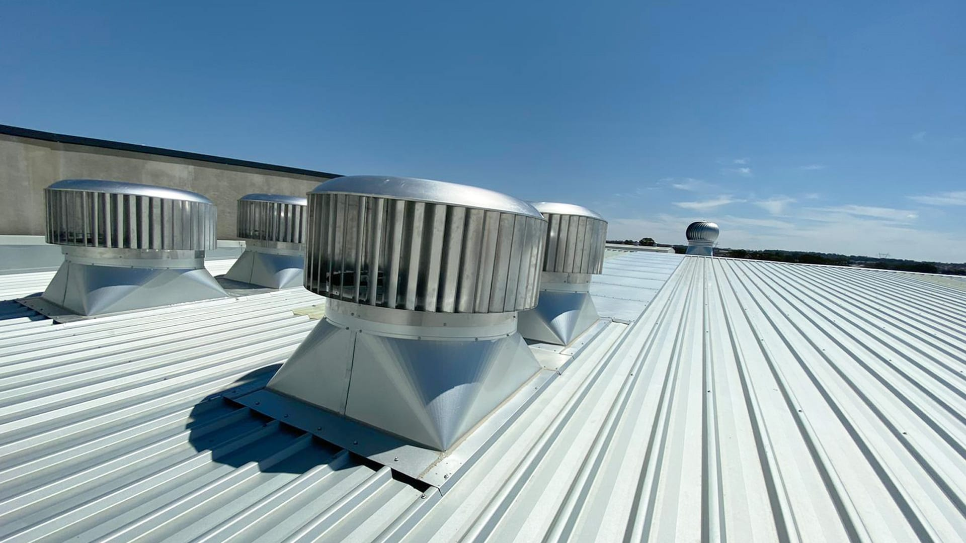 4 Ampelite Rotary roof Vents Commercial Roof