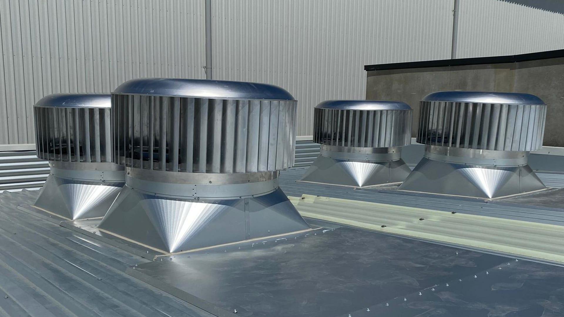 Industrial roof vent installtion