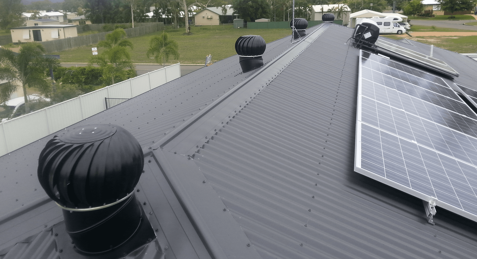What does a turbine roof vent do