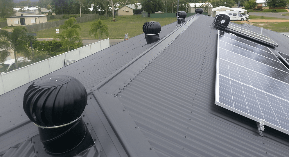 Roof vents cooling roof void Sydney