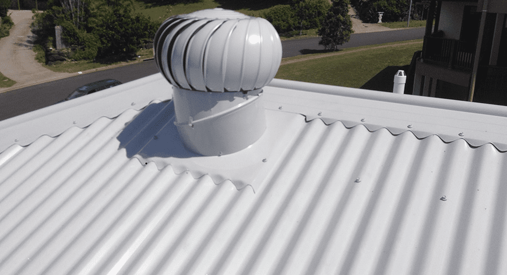 White roof vent