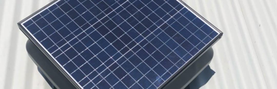 Solar roof ventilation system Sydney inner west