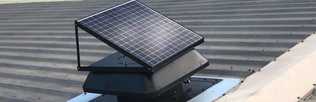 Solar roof ventilation whirlybirds