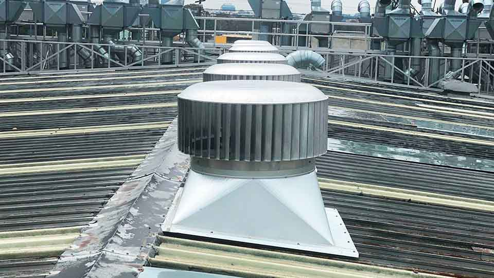 industrial turbine roof vents