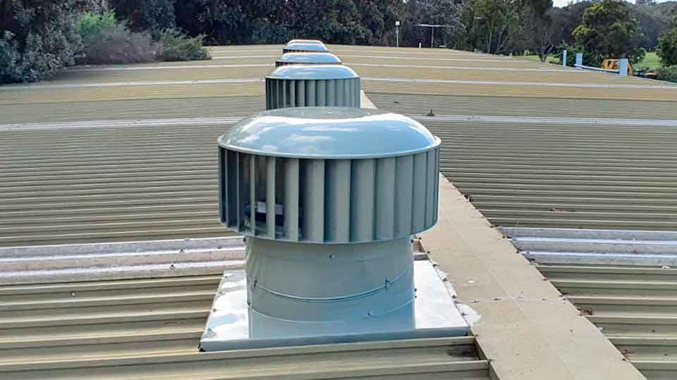commercial laudry industrial whirlybird roof vents